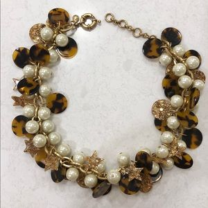 J.Crew Pearl & Tortoise Shell Necklace
